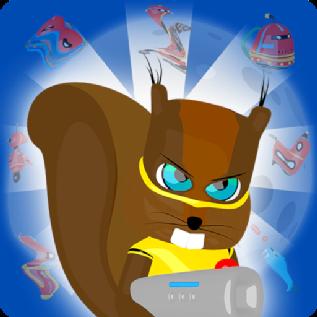 Squirrel Hero & Robots